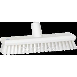 Щетка скребковая поломойная с подачей воды, 270 мм, средний ворс, белый цвет